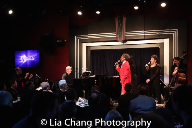 Larry Spivack, Daryl Kojak, André De Shields, Frieda Williams, Marlene Daniels, Ritt Henn. Photo by Lia Chang