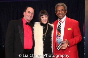 Larry Spivack, his wife Rise Clemmers and André De Shields. Photo by Lia Chang