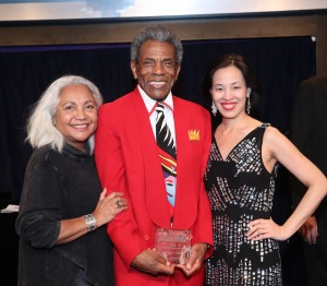 Petra Schein, André De Shields and Lia Chang. Photo by Garth Kravits