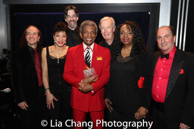 Rex Benincasa, Marlene Daniels, Ritt Henn, André De Shields, Daryl Kojak, Freida Williams and Larry Spivack. Photo by Lia Chang
