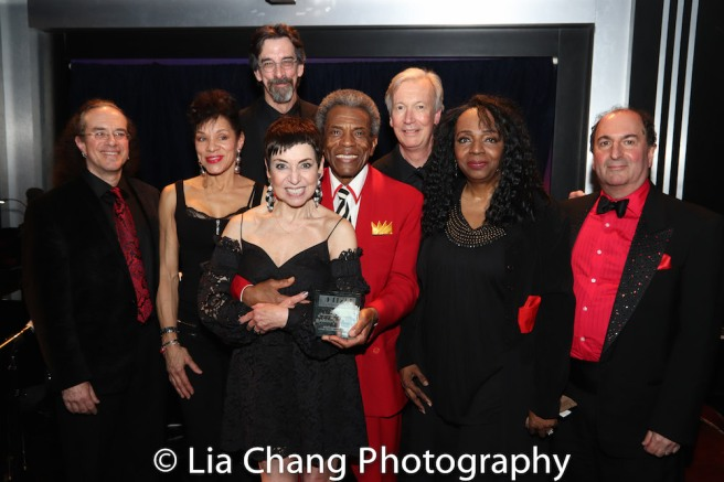 Rex Benincasa, Marlene Daniels, Ritt Henn, Sherry Eaker, André De Shields, Daryl Kojak, Freida Williams and Larry Spivack. Photo by Lia Chang