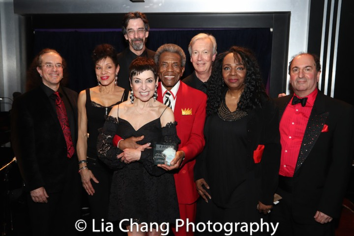 Rex Benincasa, Marlene Daniels, Ritt Henn, Sherry Eaker, André De Shields, Daryl Kojak, Freida Williams and Larry Spivack. Photo by Lia Chang