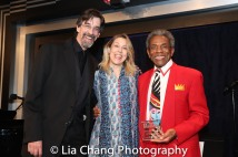 Ritt Henn, Beth Falcone and André De Shields. Photo by Lia Chang