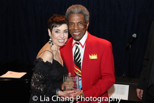 Producer Sherry Eaker and André De Shields. Photo by Lia Chang