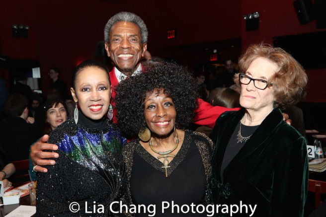 Yvonne Curry, Vinie Burrows, André De Shields and Joan Jeffri. Photo by Lia Chang
