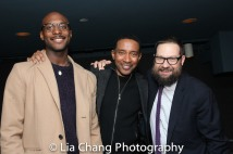 Jiréh Breon Holder, Charles Randolph-Wright and Mark Armstrong, Executive Director, The 24 Hour Plays Off-Broadway. Photo by Lia Chang