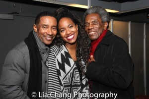 Charles Randolph-Wright, Whitney C. White and André De Shields. Photo by Lia Chang