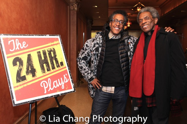 André Royo and André De Shields. Photo by Lia Chang