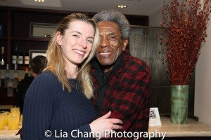 Betty Gilpin and André De Shields. Photo by Lia Chang