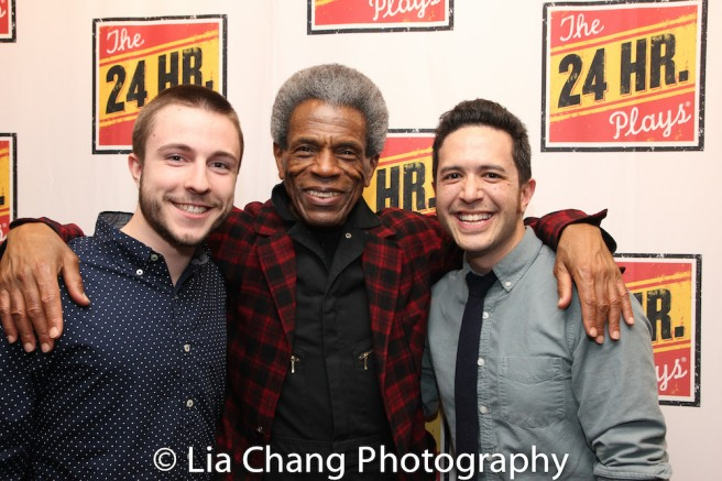 Coleman Ray Clark, André De Shields and Adam Gwon. Photo by Lia Chang