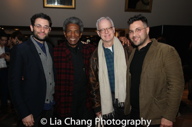 Arian Moayed, André De Shields, Reed Birney and a guest. Photo by Lia Chang
