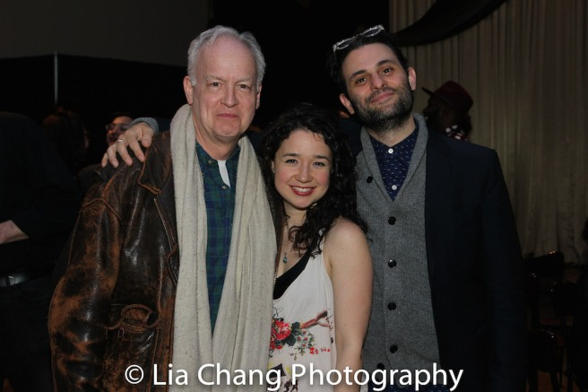 THE HUMANS's reunion -Reed Birney, Sara Steele and Arian Moayed. Photo by Lia Chang