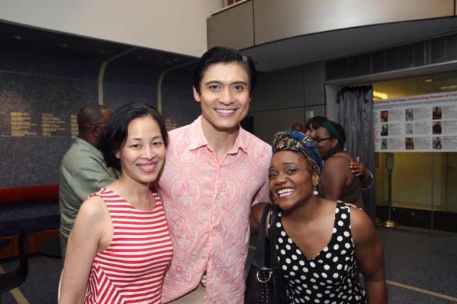 Lia Chang, Paolo Montalban and Kenita R. Miller. Photo by Garth Kravits