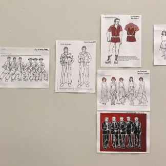 SOFT POWER costume designs by Anita Yavich.