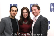 THE VISIT reunion - George Abud, Emily Mechler and Matthew Deming. Photo by Lia Chang
