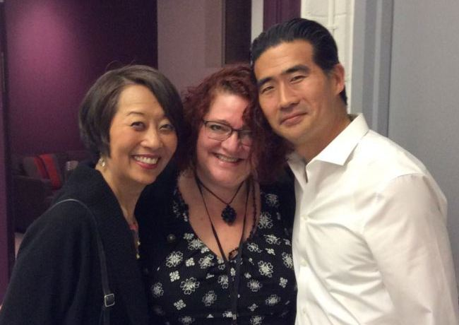 Jeanne Sakata, Jessica Kubzansky and Ryun Yu after the opening night performance of HOLD THESE TRUTHS at Arena Stage.
