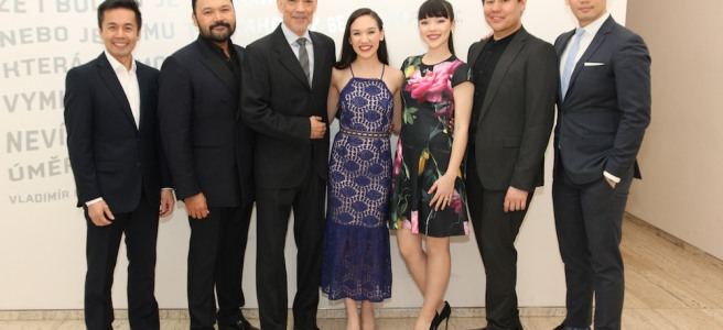 Some of the Drama League nominated cast of Classic Stage Company's PACIFIC OVERTURES - Steven Eng, Orville Mendoza, Thom Sesma, Kimmy Immanuel, Megan Masako Haley, Kelvin Moon Loh, Karl Josef Co. Photo by Lia Chang