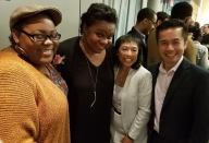 Ashley D. Kelley, Kirsten Childs, Baayork Lee and Steven Eng.