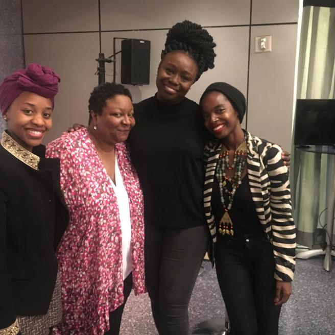 Mirirai Sithole, Myra Lucretia Taylor, Jocelyn Bioh and MaameYaa Boafo. Photo courtesy of MaameYaa Boafo/Facebook