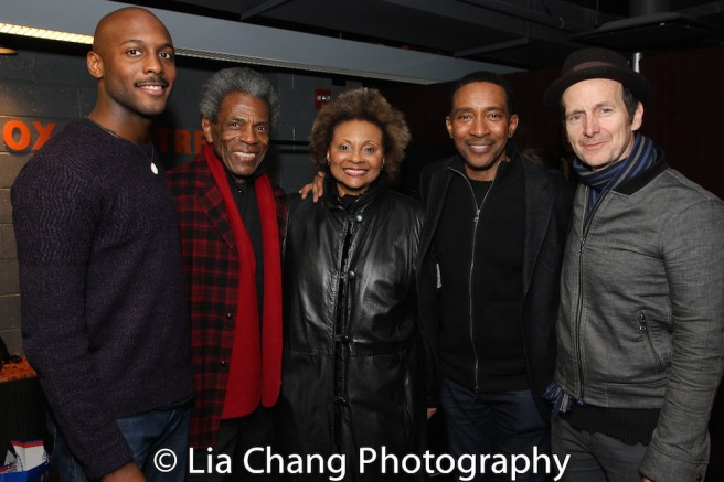 Jiréh Breon Holder, André De Shields, Leslie Uggams, Charles Randolph-Wright and Denis O'Hare. Photo by Lia Chang