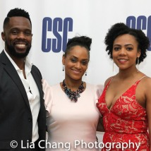 THE COLOR PURPLE reunion - Akron Watson, Rema Webb and Phoenix Best. Photo by Lia Chang
