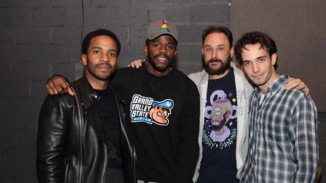 André Holland, Ian Duff, Greg Keller and Jake Horowitz. Photo by Lia Chang