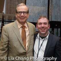 Barry Grove,Executive Producer of the Manhattan Theatre Club and Doug Reside, Billy Rose Theatre Division, New York Public Library for the Performing Arts, Dorothy and Lewis B. Cullman Center. Photo by Lia Chang