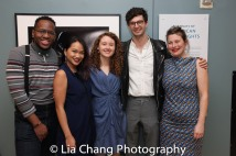 Vasilis Onwuadu, Maria Paz Alegre, Bronwen Sharp, Steven Meehan and Jobina Tinnemans. Photo by Lia Chang