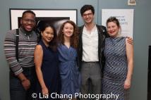 Vasilis Onwuadu, Maria Paz Alegre, Bronwen Sharp, Steven Meehan and Jobina Tinnemans. Photo by Lia Chang