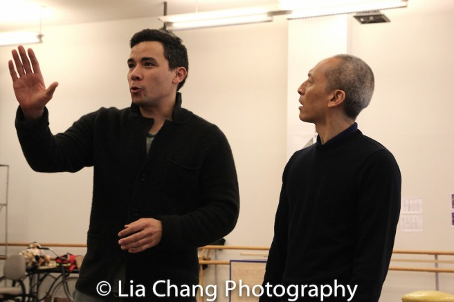 Conrad Ricamora and Francis Jue. Photo by Lia Chang