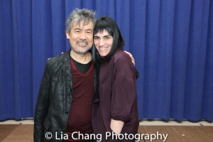 David Henry Hwang and Leigh Silverman. Photo by Lia Chang