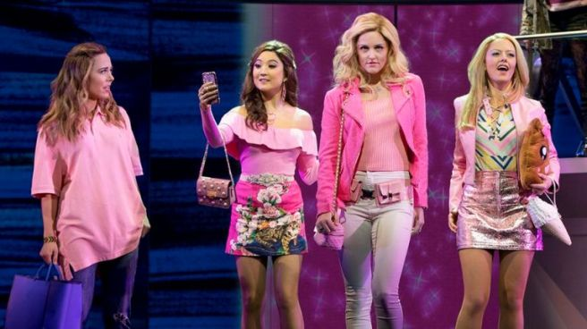 "Erika Henningsen, Ashley Park, Taylor Louderman and Kate Rockwell star in ""Mean Girls."" Photo Credit: Joan Marcus"