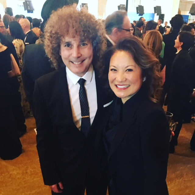 Lily Mariye and her husband, Concord recording artist, saxophonist Boney James, at the DGA Awards Beverly Hilton Hotel on February 3, 2018.