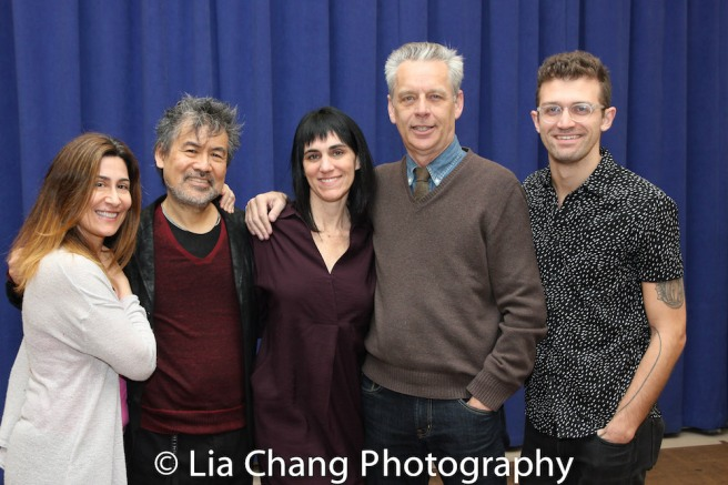 Jeanine Tesori, David Henry Hwang, Leigh Silverman, Michael Ritchie and Sam Pinkleton. Photo by Lia Chang