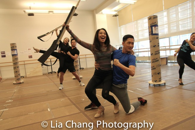 Kendyl Ito, Paul HeeSang Miller, Jaygee Macapugay, Daniel May, Kristen Faith Oei. Photo by Lia Chang