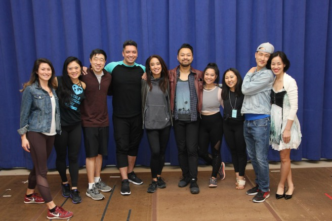 Kristen Faith Oei, Conrad Ricamora, Jon Hoche, Jaygee Macapugay, Billy Bustamante, Geena Quinto, Kendyl Ito, Daniel May, Lia Chang. Photo by Lia Chang