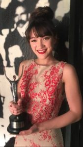Isa Camille Briones won the 2018 Ovation Award for Featured Actress in a Musical.