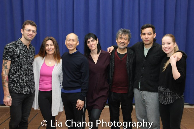Sam Pinkleton, Jeanine Tesori, Francis Jue, Leigh Silverman, David Henry Hwang, Conrad Ricamora, Alyse Alan Louis. Photo by Lia Chang