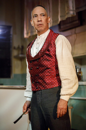Thom Sesma as Sweeney Todd. Photo Credit: Joan Marcus