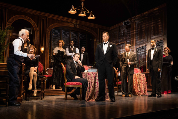 Harry Connick, Jr.(Henry Gondorff) andthe company; Photo by Evan Zimmerman for MurphyMade