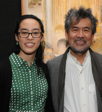 Lauren Yee and David Henry Hwang at the 2017 Kesselring Awards at the National Arts Club in New York on November 5, 2017. Photo by Lia Chang