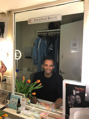 Jonathan Raviv in his dressing room at The Ethel Barrymore Theatre in New York. Photo by Lia Chang