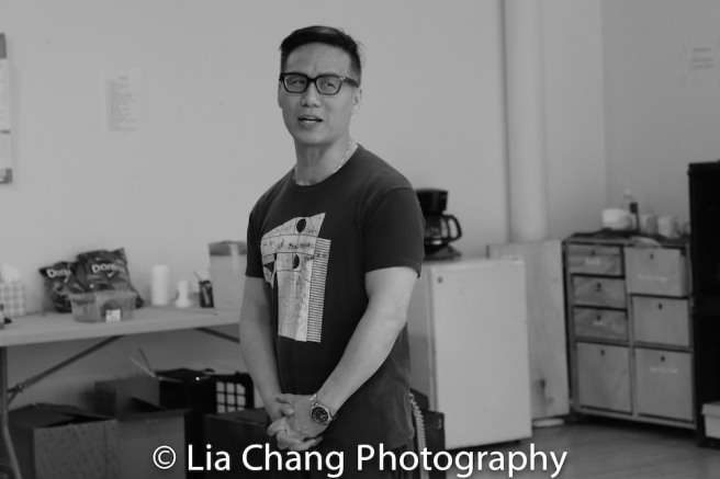 BD Wong in rehearsal for Lauren Yee's THE GREAT LEAP in Atlantic's rehearsal studio on May 17, 2018 in New York. Photo by Lia Chang