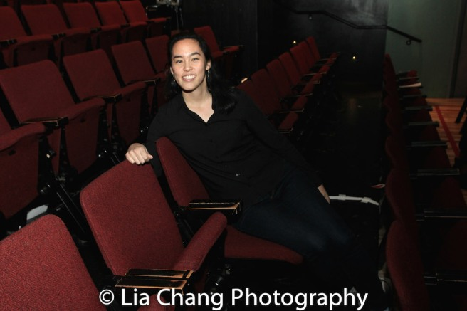Playwright Lauren Yee at the Atlantic Theater Stage 2. Photo by Lia Chang