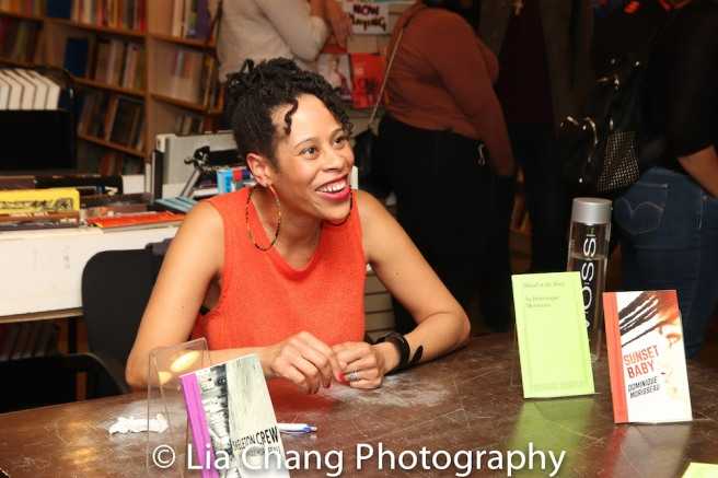 Dominique Morisseau at The Drama Bookshop in New York on May 7, 2018. Photo by Lia Chang