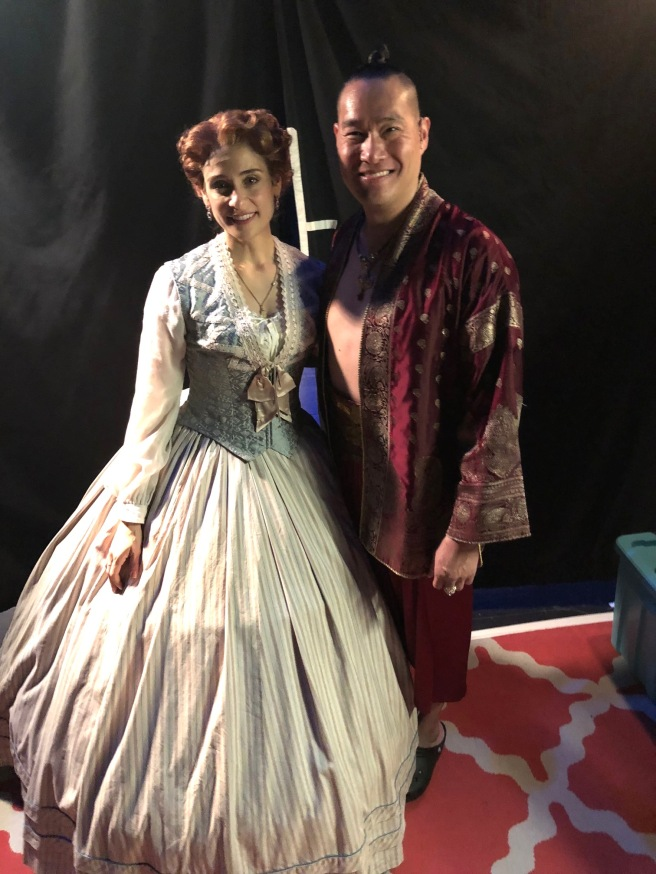 Elena Shaddow and Darren Lee, backstage at the Proctors Theatre.