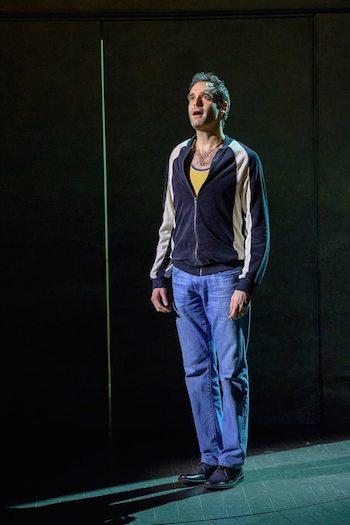 Jonathan Raviv as Sammy in THE BAND'S VISIT. Photo by Matthew Murphy