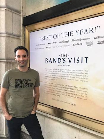 THE BAND'S VISIT marks Jonathan Raviv's Broadway debut. Photo by Lia Chang