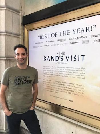 THE BAND'S VISIT marks Jonathan Raviv's Broadway debut. Photo by Lia Chang