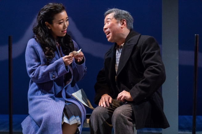 Grace Yoo and Gary Thomas Ng in SpeakEasy Stage's production of ALLEGIANCE. Photo by Nile Scott Studios